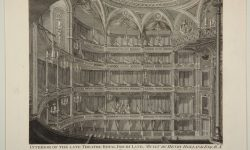 Interior of the late theatre Drury Lane