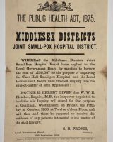 Middlesex smallpox hospital poster