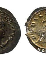 Silver radiate coin AD 249 – 251