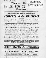 Auction Catalogue 26 May 1914