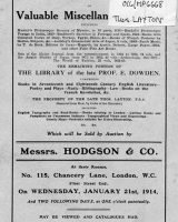 Auction Catalogue 21 January 1914