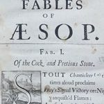 The Fables of Aesop paraphrased in verse : adorn'd with sculpture, and illustrated with annotations