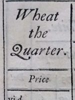 A collection of several authentic accounts of the history and price of wheat, bread, malt, &c.
