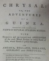 Chrysal: or, The Adventures of a Guinea